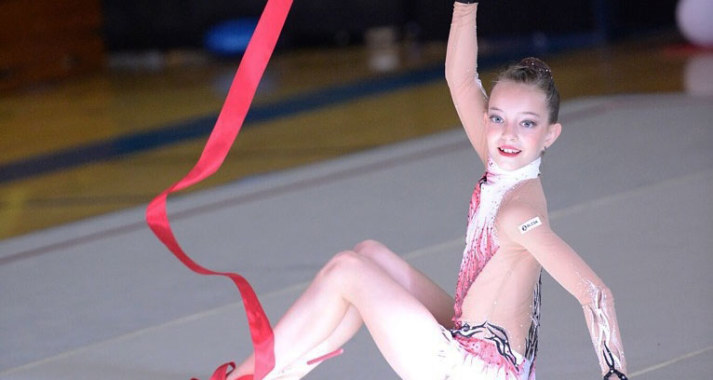 the grace and flexibility required in rhythmic gymnastics Rhythmic gymnastics combines ballet, dance and acrobatics with expressive movement and the manipulation of apparatuses such as the ball, clubs, hoop, ribbon and rope this sport is ideal for developing flexibility, strength, as well as body coordination.